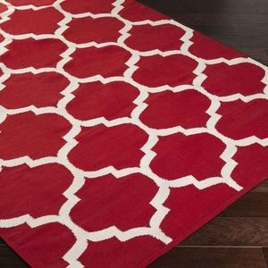 Other - Area Rug Modern Red 5'x7'